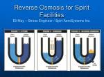reverse osmosis for spirit facilities eli may stress engineer spirt aerosystems inc