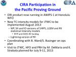 cira participation in the pacific proving ground