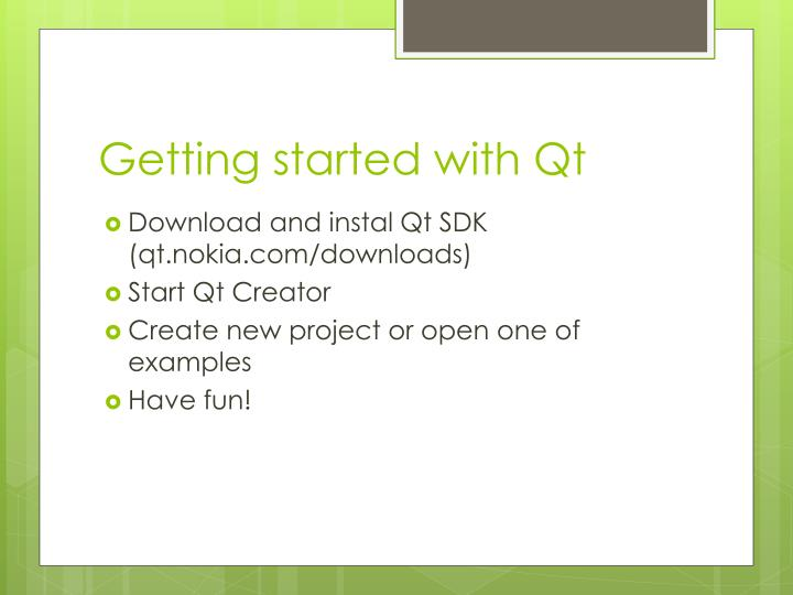 Getting started with Qt