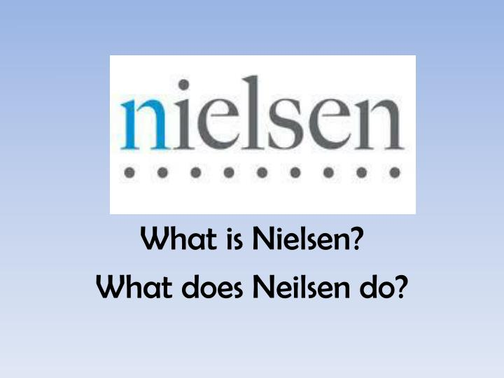 what is nielsen what does neilsen do n.