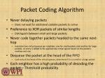 packet coding a lgorithm