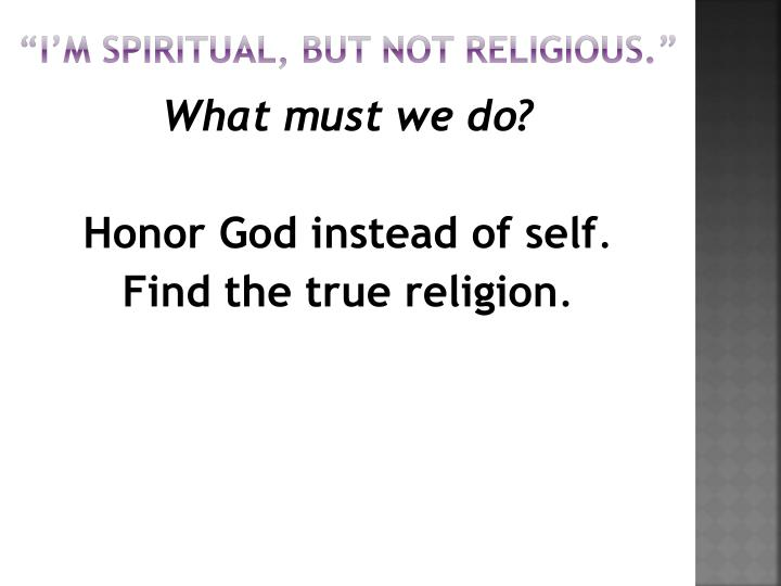 im spiritual but not religious