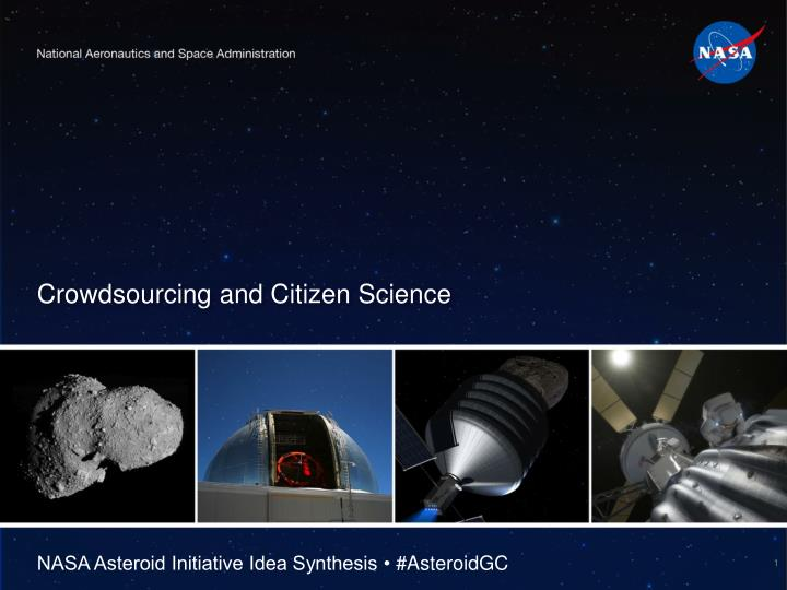 Crowdsourcing and citizen science