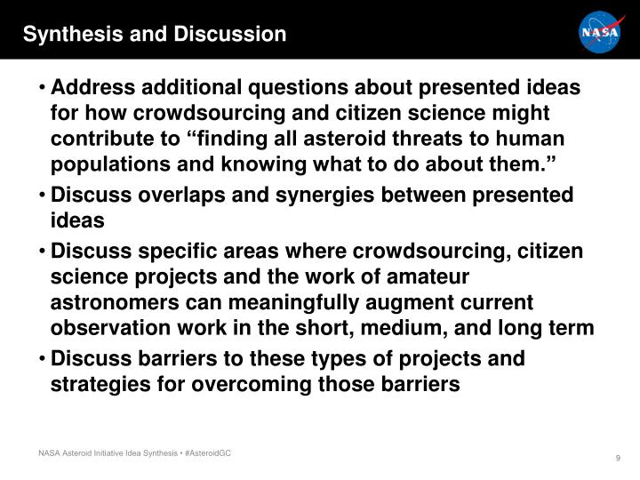 Synthesis and Discussion