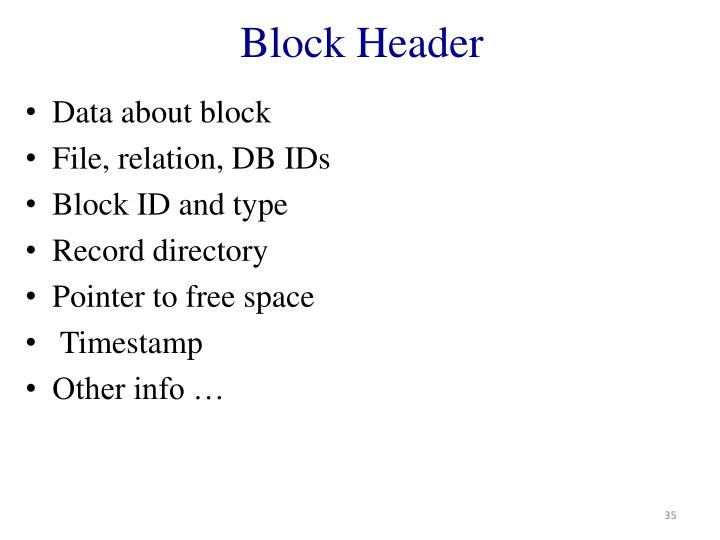 Block Header