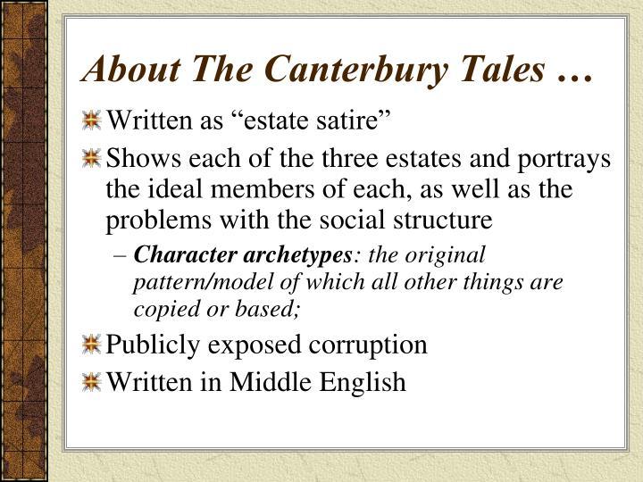 satire in canterbury tales