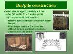bin pile construction