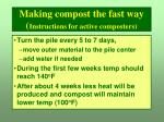 making compost the fast way instructions for active composters