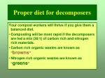 proper diet for decomposers