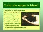 testing when compost is finished