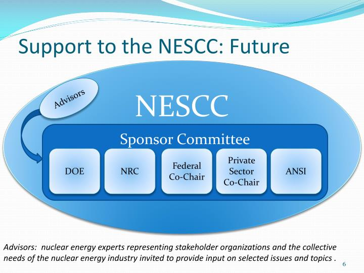 Support to the NESCC: Future