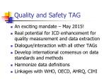 quality and safety tag