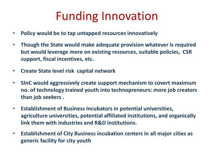 Funding Innovation