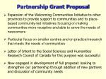 partnership grant proposal