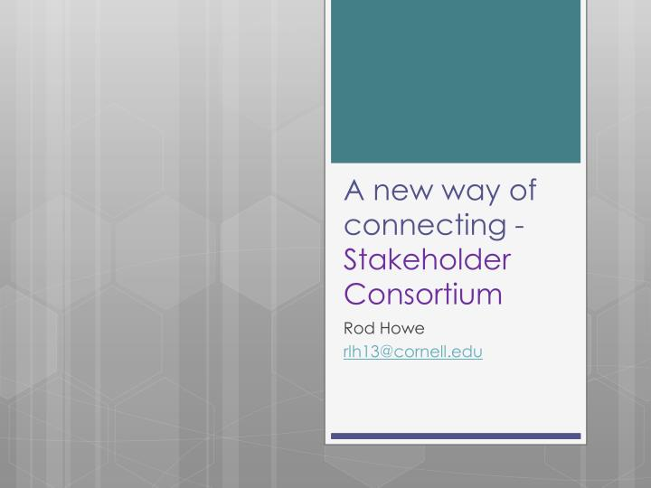 A new way of connecting -