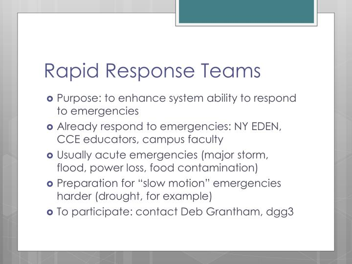 Rapid Response Teams