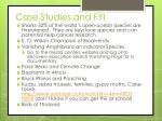 case studies and fyi