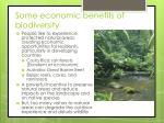 some economic benefits of biodiversity