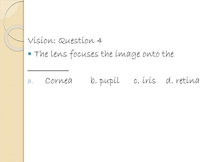 Vision: Question 4