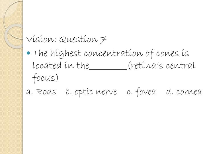 Vision: Question 7
