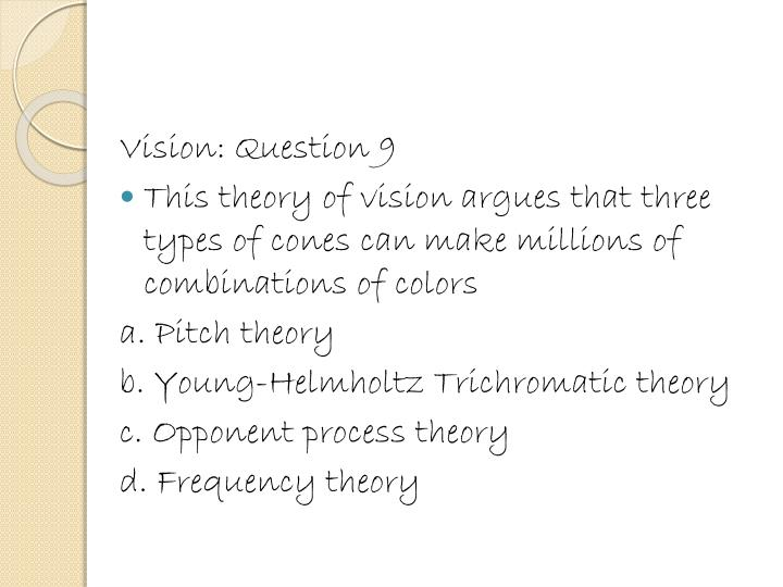 Vision: Question 9