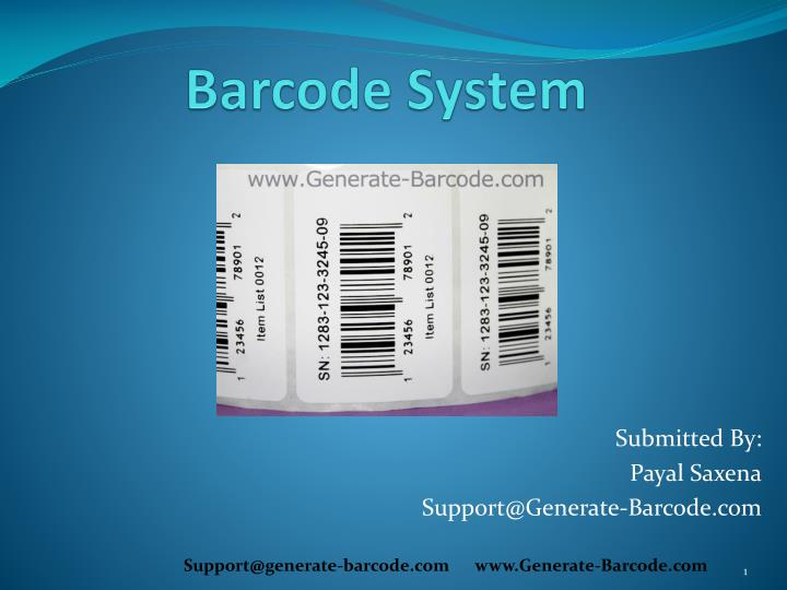 barcode system n.