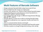 multi features of barcode software