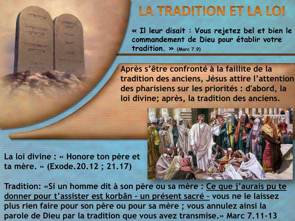 """Résultat de recherche d'images pour """"Vous rejetez bel et bien le commandement de Dieu pour établir votre tradition"""""""
