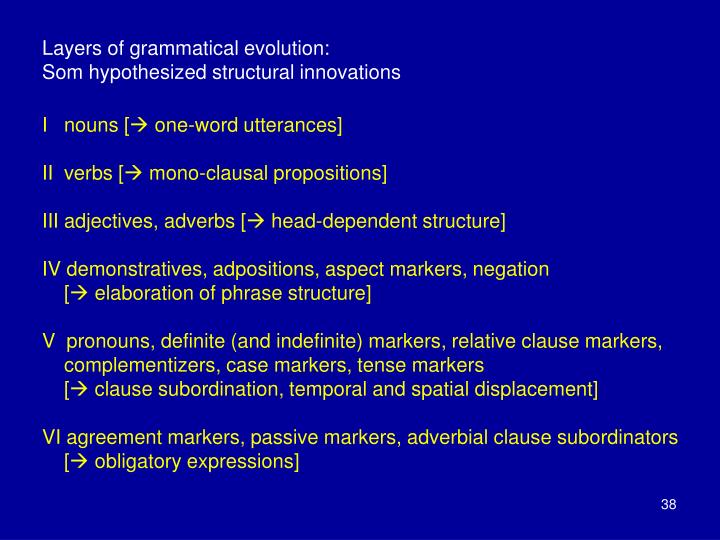 Layers of grammatical evolution: