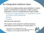 an integrated evidence base