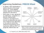 improving guidelines precis wheel