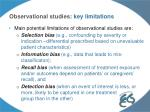 observational studies key limitations