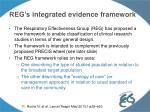 reg s integrated evidence framework