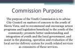 commission purpose