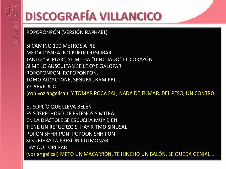 DISCOGRAFÍA VILLANCICO