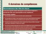 6 domaines de comp tences1
