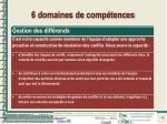 6 domaines de comp tences6