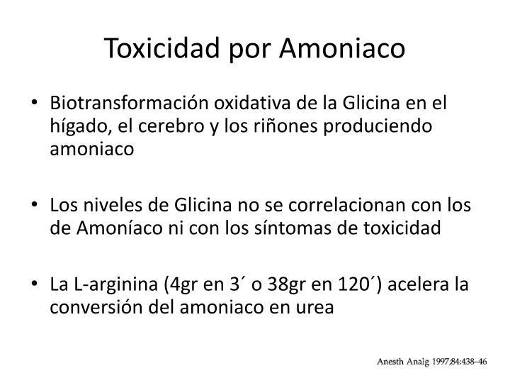 Toxicidad por Amoniaco