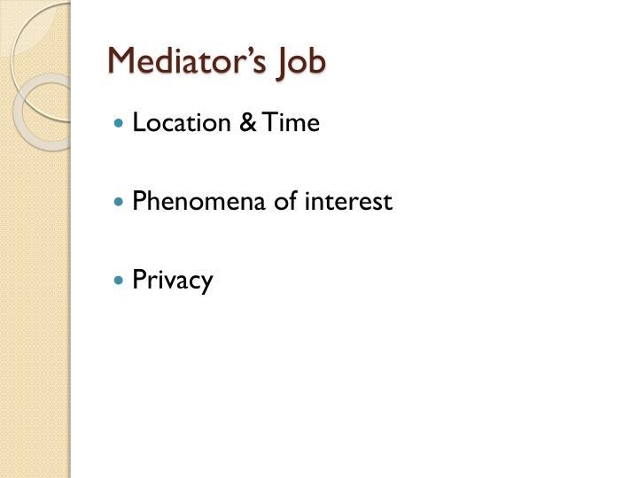 Mediator's