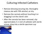 culturing infected catheters