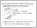 multivariate random walk metropolis