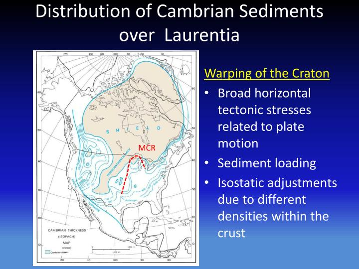 Distribution of Cambrian Sediments over