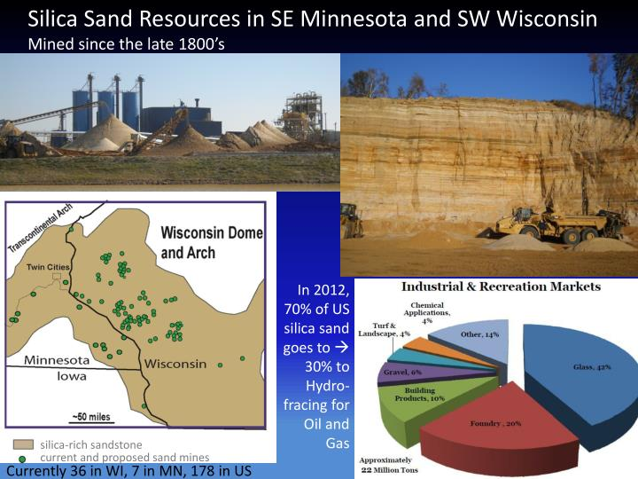 Silica Sand Resources in SE Minnesota and SW Wisconsin