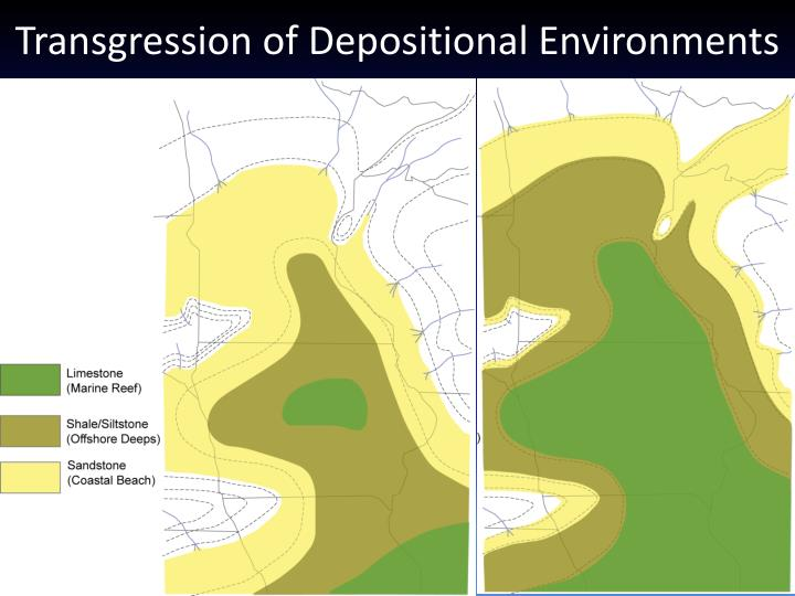 Transgression of Depositional Environments