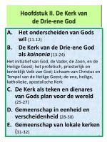 hoofdstuk ii de kerk van de drie ene god