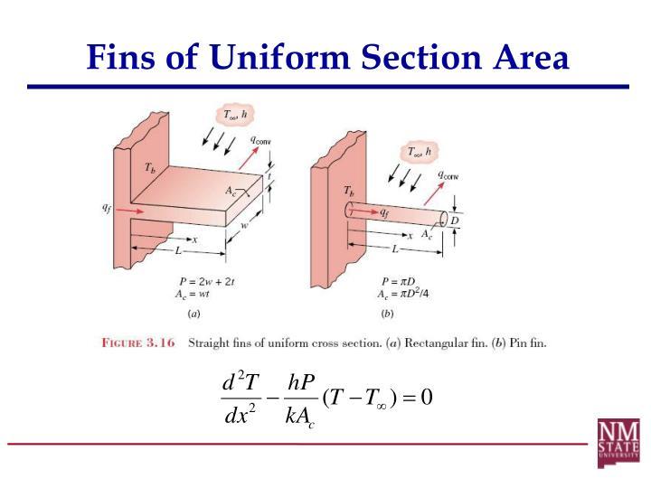 Fins of Uniform Section Area