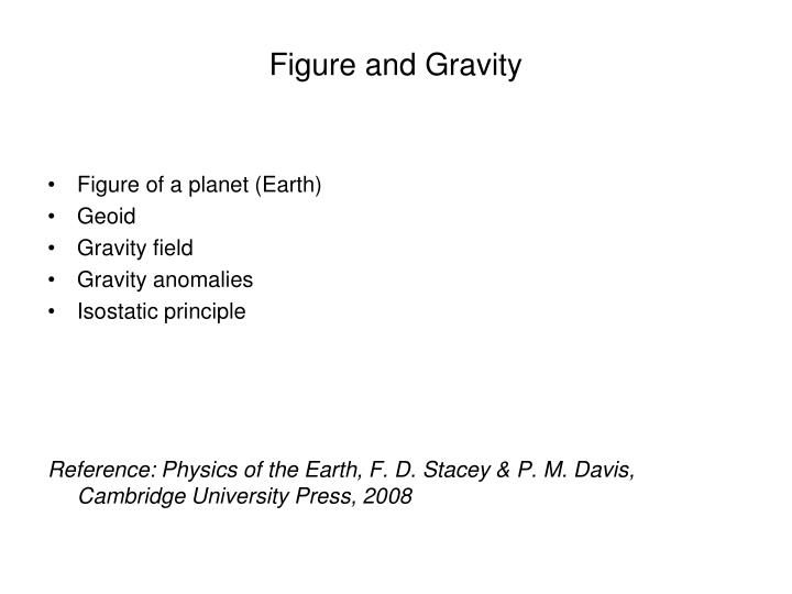 figure and gravity n.
