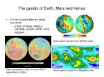 the geoids of earth mars and venus