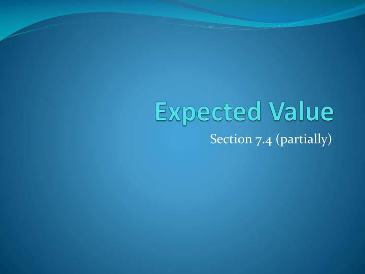expected value n.