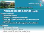 normal breath sounds cont